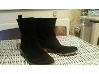 leather suede ankle boots size 5