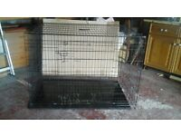 """48"""" Ellie bo dog cage. Nearly new but damaged, some wires chewed and missing."""