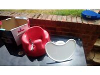 Bumbo red with tray and box