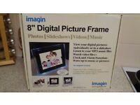 """imagin 8"""" digital picture frame in black"""