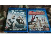 Blue Ray dvds fast 5 and hangover 8 pound