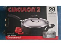 Circulon 2 28cm Non-stick saute pan with lid
