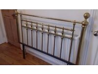 Antique style brass bed head frame