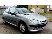 Peugeot 206 1.6 12 months mot full leather seats low milage 85k. £475
