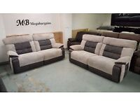 Ex Display ScS Curve 3 Seater Electric Recliner Sofas, 2 Avail £399 Each, Can/Del View Collect NG177