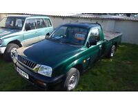 mitsubishi L200 pick up, 2000-w reg, 2.5 diesel, 171,000 miles, mot august 2017 , 1 owner from new