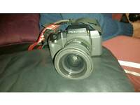 Pentax 35mm SF7 SLR With 28-80mm Auto focus Lens + Flash Module + Clubman 70-210mm Telephoto Lens
