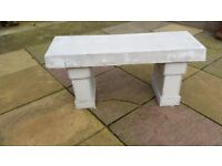 Concrete bench (light grey)