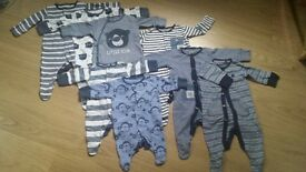 "Boy's sleepsuits size 0-3, 3-6 months ""Next"""
