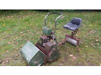 Atco sit on lawnmower with running engine
