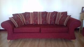 3 piece suite with foot stool