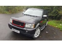 AMAZING OUTSTANDING LAND ROVER RANGE ROVER SPORT 2006 BLACK 2.7L TDV6 WITH 2016 ALLOY WHEELS