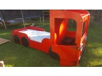 Boys Kids Childs Red Single Lorry Bed