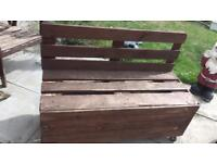 2pallet benches and small table