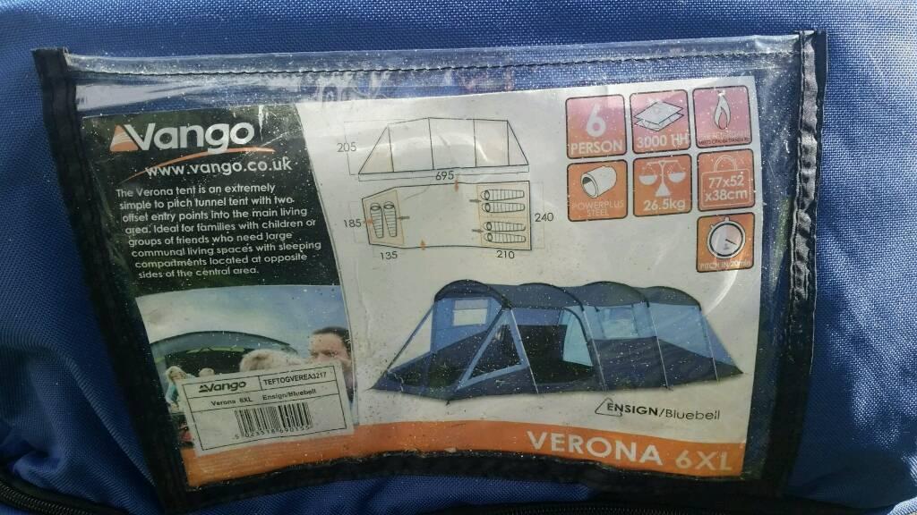 Vango Verona 6xl Tent In Inverness Highland Gumtree