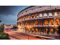 FLIGHTS TO ROME!!!