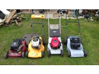 joblot of 4x lawnmowers spares or repair