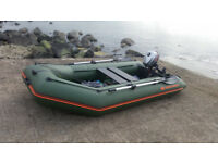 Inflatable boat KOLIBRI KM-330 PP with outboard motor Mariner 3.5 HP