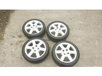 ford ka fiesta fusion focus sport alloys with good 195/45/16 tyres