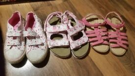 Girls summer shoes size 12 (4 pairs)