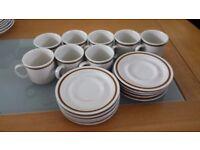 Vintage stoneware Japan coffee cup & saucer set
