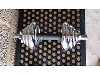 York 20kg Chrome Spinlock Dumbbell Set