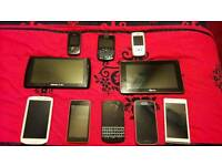 8 phones and 2 tablets ( Spares & Repairs )