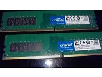 PC RAM Crucial 16 GB (2x8GB Paired) DDR4-2133