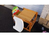 Combination Wooden Highchair