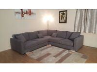 New Sofa Workshop Dillon grey fabric corner sofa