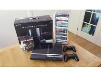 Playstation 3 ps3 40gb boxed with games