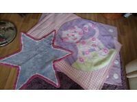 Rugs and bedding suitable for girls bedroom