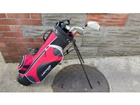Dunlop Junior Golf Set with Caddy and 4 clubs and golf balls