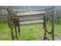 Vintage cast iron mangle
