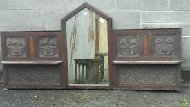 Overmantle Mirror Large with lovely carving and detail