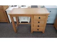 Marlborough Oak Single Pedestal Dressing Table Can Deliver