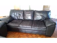 Two leather (three seater) sofas - only 3 years old. Genuinely excellent condition!