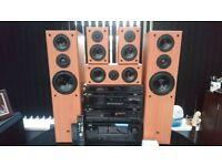 DENON HIFI SEPARATES, HOME ENTERTAINMENT DOLBY SURROUND SOUND SYSTEM, REMOTESX2 SPEAKERSX5, 100%