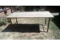 Rustic/Industrial Dining Table Indoor or Outdoor.