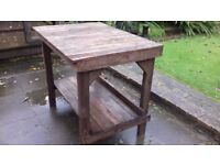 Work bench - garden bench - potting shed bench