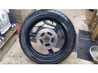 MALAGUTI Rear wheel and tyre with brake disk 130/70-17 LOTS of tread