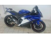 Yamaha R6 2009 Blue white R 6