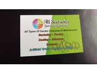 ALL SEASONS GARDENING SERVICES Fencing,slabbing,turfing,artificial grass