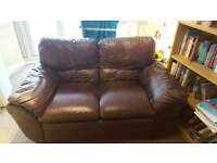 Brown 2 seater sofa free to collect