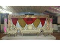 Wedding Stage Hire, Floral Stages, Mehndi Stages & Chair covers