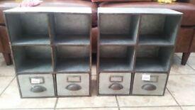industrial style shelf x2