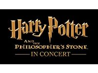 4 tickets x Harry Potter and Philosopher's Stone Film & Concert Royal Albert Hall 13/05/17