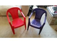 Childrens plastic chairs