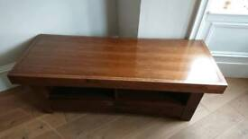 Dark solid wood TV unit/table