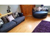 Large 4 seater sofa & extra large cuddle chair SWAPS SWAPS SWAPS